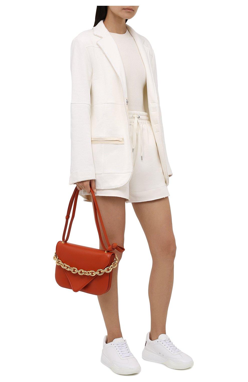 Женские хлопковые шорты AZ FACTORY белого цвета, арт. SH0004/0C1 | Фото 2 (Женское Кросс-КТ: Шорты-одежда; Длина Ж (юбки, платья, шорты): Мини; Кросс-КТ: Трикотаж; Материал внешний: Хлопок; Стили: Спорт-шик)