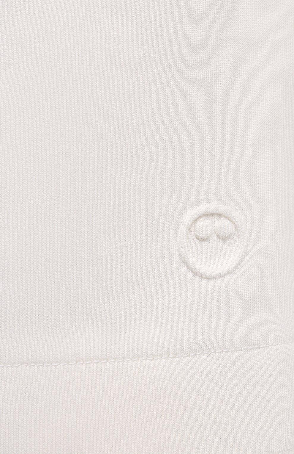 Женские хлопковые шорты AZ FACTORY белого цвета, арт. SH0004/0C1 | Фото 5 (Женское Кросс-КТ: Шорты-одежда; Длина Ж (юбки, платья, шорты): Мини; Кросс-КТ: Трикотаж; Материал внешний: Хлопок; Стили: Спорт-шик)