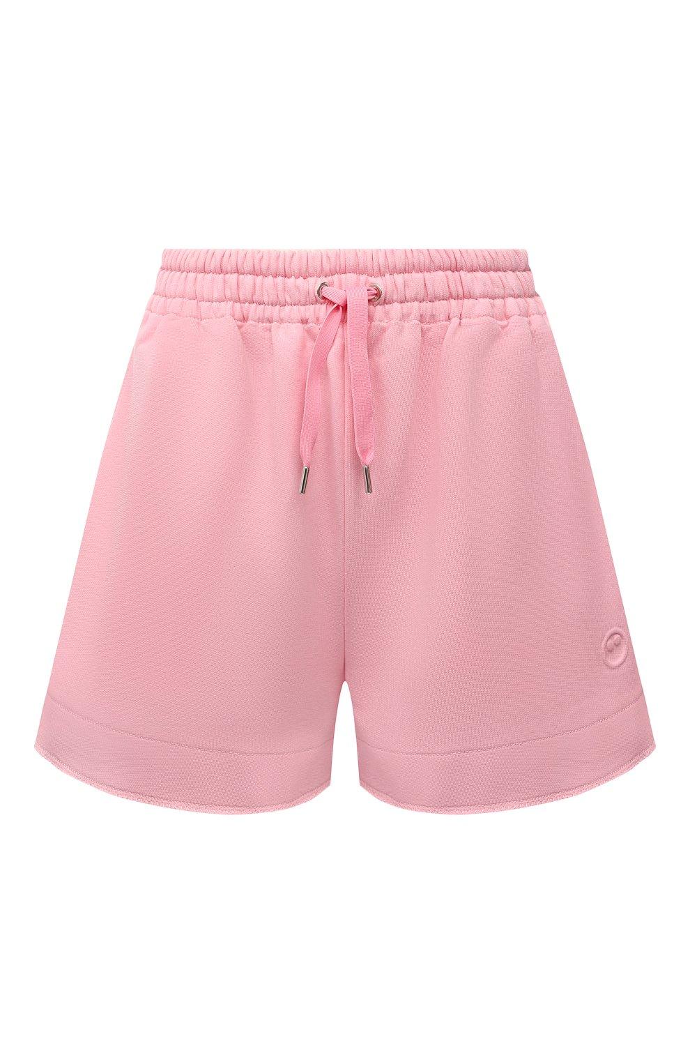 Женские хлопковые шорты AZ FACTORY светло-розового цвета, арт. SH0004/0C1 | Фото 1 (Женское Кросс-КТ: Шорты-одежда; Длина Ж (юбки, платья, шорты): Мини; Кросс-КТ: Трикотаж; Материал внешний: Хлопок; Стили: Спорт-шик)