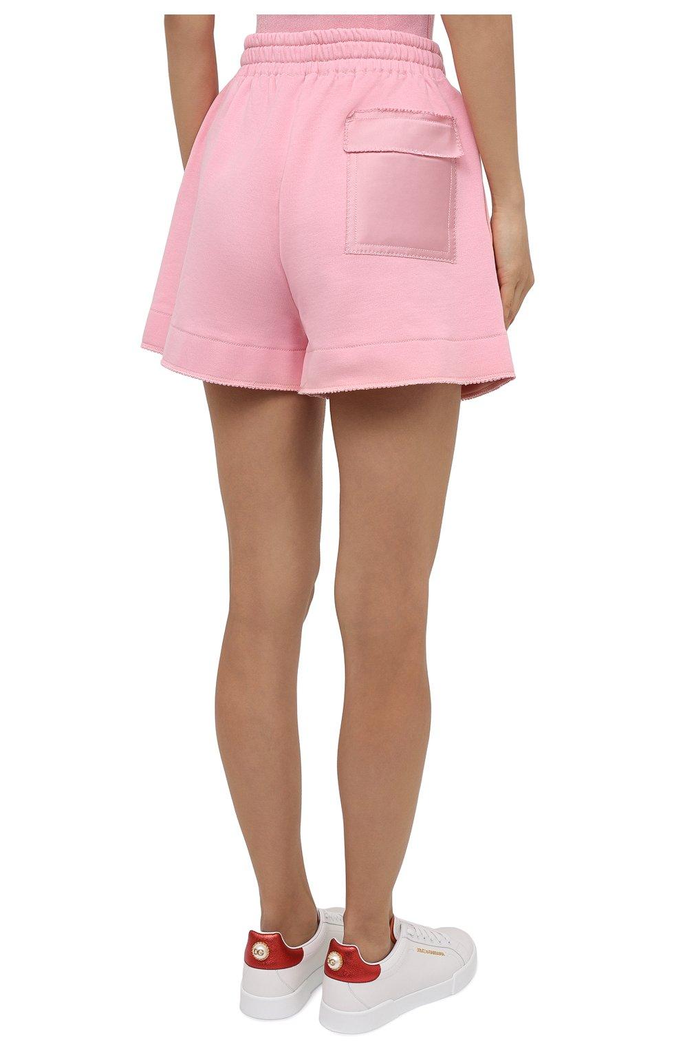 Женские хлопковые шорты AZ FACTORY светло-розового цвета, арт. SH0004/0C1 | Фото 4 (Женское Кросс-КТ: Шорты-одежда; Длина Ж (юбки, платья, шорты): Мини; Кросс-КТ: Трикотаж; Материал внешний: Хлопок; Стили: Спорт-шик)