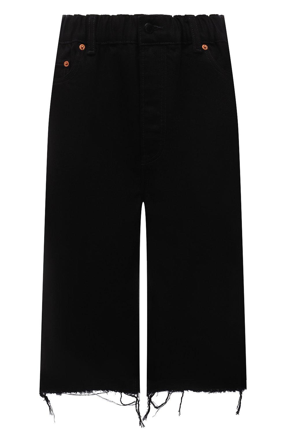 Женские джинсовые шорты DENIM X ALEXANDER WANG черного цвета, арт. 4DC4214035   Фото 1 (Женское Кросс-КТ: Шорты-одежда; Кросс-КТ: Деним; Материал внешний: Хлопок; Длина Ж (юбки, платья, шорты): Миди; Стили: Кэжуэл)