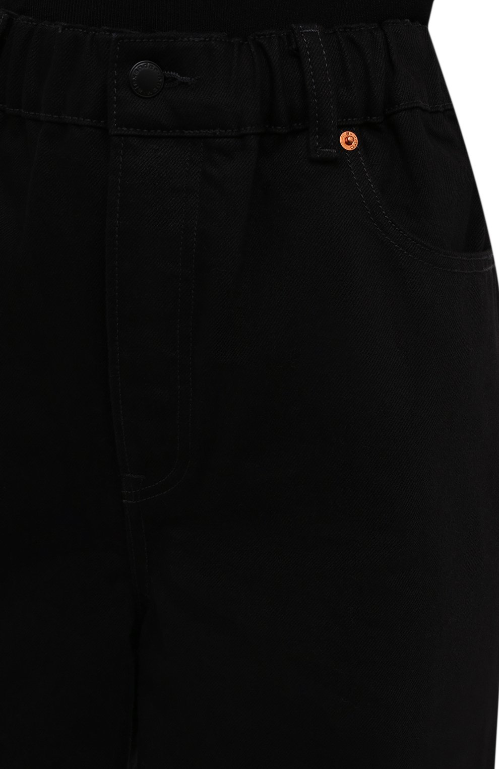 Женские джинсовые шорты DENIM X ALEXANDER WANG черного цвета, арт. 4DC4214035   Фото 5 (Женское Кросс-КТ: Шорты-одежда; Кросс-КТ: Деним; Материал внешний: Хлопок; Длина Ж (юбки, платья, шорты): Миди; Стили: Кэжуэл)