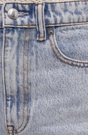 Женские джинсовые шорты DENIM X ALEXANDER WANG голубого цвета, арт. 4DC4214014   Фото 5 (Женское Кросс-КТ: Шорты-одежда; Кросс-КТ: Деним; Длина Ж (юбки, платья, шорты): Мини; Материал внешний: Хлопок; Стили: Кэжуэл)