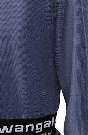 Женский худи ALEXANDERWANG.T тёмно-голубого цвета, арт. 4CC1211197 | Фото 5 (Рукава: Длинные; Материал внешний: Синтетический материал, Хлопок; Женское Кросс-КТ: Худи-спорт, Худи-одежда; Стили: Спорт-шик; Длина (для топов): Укороченные)