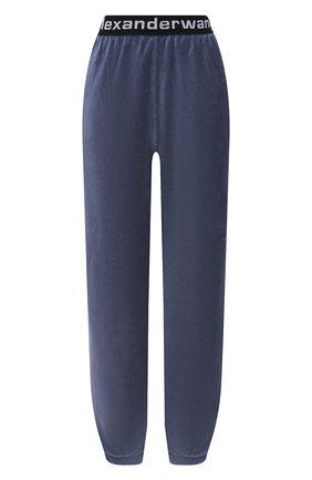 Женские джоггеры ALEXANDERWANG.T тёмно-голубого цвета, арт. 4CC1204024 | Фото 1 (Материал внешний: Синтетический материал, Хлопок; Стили: Спорт-шик; Женское Кросс-КТ: Джоггеры - брюки; Силуэт Ж (брюки и джинсы): Джоггеры; Длина (брюки, джинсы): Стандартные)