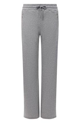 Женские хлопковые брюки DRIES VAN NOTEN серого цвета, арт. 212-011122-3612 | Фото 1 (Материал внешний: Хлопок; Стили: Спорт-шик; Женское Кросс-КТ: Брюки-одежда; Кросс-КТ: Трикотаж; Силуэт Ж (брюки и джинсы): Прямые; Длина (брюки, джинсы): Удлиненные)