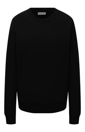 Женский хлопковый свитшот DRIES VAN NOTEN черного цвета, арт. 212-011103-3612 | Фото 1 (Материал внешний: Хлопок; Рукава: Длинные; Длина (для топов): Стандартные; Стили: Спорт-шик; Женское Кросс-КТ: Свитшот-одежда)