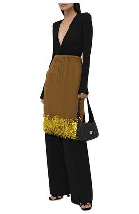 Женская юбка из вискозы DRIES VAN NOTEN бежевого цвета, арт. 212-010837-3293 | Фото 2 (Длина Ж (юбки, платья, шорты): Миди; Материал внешний: Вискоза; Стили: Гламурный; Женское Кросс-КТ: Юбка-одежда)