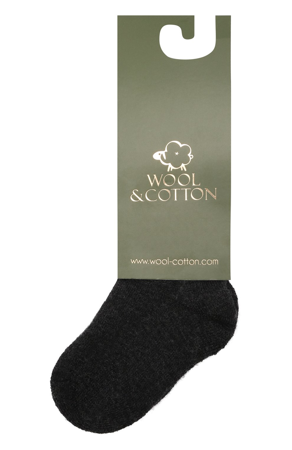 Детские шерстяные носки WOOL&COTTON черного цвета, арт. NPML   Фото 1 (Материал: Шерсть)