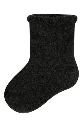 Детские шерстяные носки WOOL&COTTON черного цвета, арт. NPML | Фото 1 (Материал: Шерсть)
