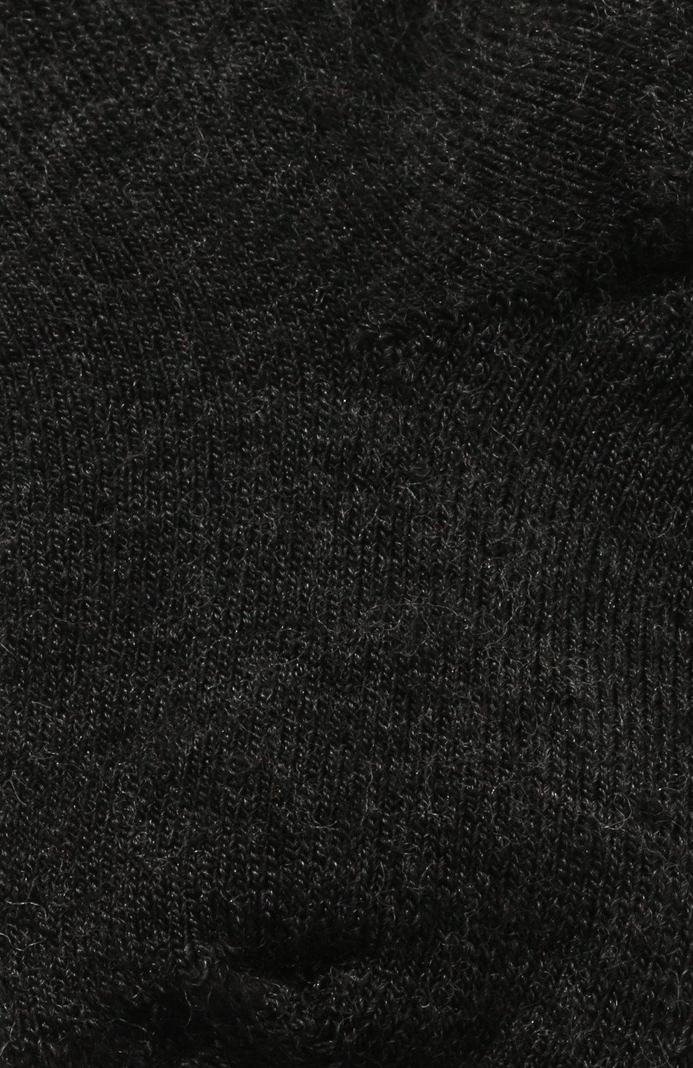 Детские шерстяные носки WOOL&COTTON черного цвета, арт. NPML   Фото 2 (Материал: Шерсть)