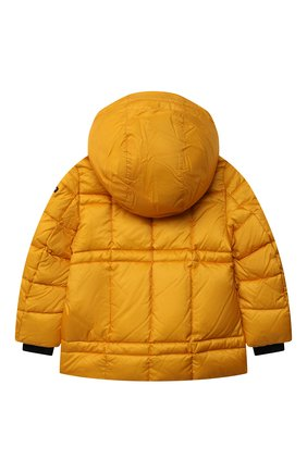 Детского пуховая куртка FREEDOMDAY желтого цвета, арт. IFRJB910AB-163-RD | Фото 2 (Материал утеплителя: Пух и перо; Материал подклада: Синтетический материал; Материал внешний: Синтетический материал; Рукава: Длинные; Мальчики Кросс-КТ: Пуховик-верхняя одежда; Кросс-КТ: Сезон: зима)