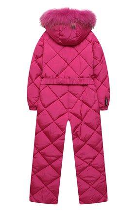 Детский пуховый комбинезон FREEDOMDAY фуксия цвета, арт. IFRJG816AB-121-RDRFCF | Фото 2 (Материал внешний: Синтетический материал; Материал утеплителя: Пух и перо; Рукава: Длинные; Материал подклада: Синтетический материал; Девочки Кросс-КТ: Комбинезон-верхняя одежда)