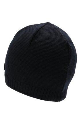 Мужская шапка BOGNER темно-синего цвета, арт. 98656125 | Фото 2 (Материал: Шерсть, Текстиль, Синтетический материал; Кросс-КТ: Трикотаж)