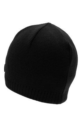 Мужская шапка BOGNER черного цвета, арт. 98656125 | Фото 2 (Материал: Текстиль, Синтетический материал, Шерсть; Кросс-КТ: Трикотаж)