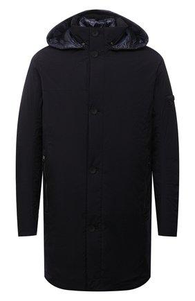 Мужская утепленная куртка BOGNER темно-синего цвета, арт. 38495883 | Фото 1 (Материал утеплителя: Пух и перо; Материал подклада: Синтетический материал; Материал внешний: Синтетический материал; Рукава: Длинные; Длина (верхняя одежда): До середины бедра; Кросс-КТ: Куртка; Мужское Кросс-КТ: утепленные куртки; Стили: Кэжуэл)