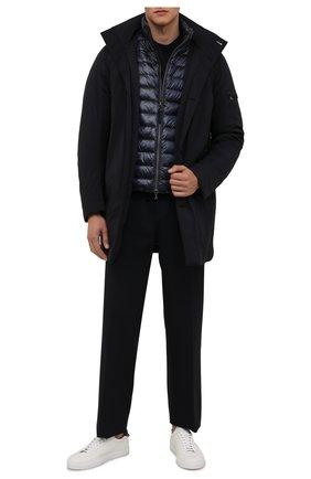 Мужская утепленная куртка BOGNER темно-синего цвета, арт. 38495883 | Фото 2 (Материал утеплителя: Пух и перо; Материал подклада: Синтетический материал; Материал внешний: Синтетический материал; Рукава: Длинные; Длина (верхняя одежда): До середины бедра; Кросс-КТ: Куртка; Мужское Кросс-КТ: утепленные куртки; Стили: Кэжуэл)
