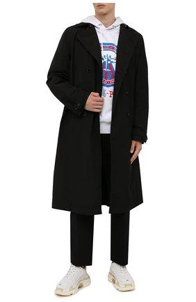 Мужские кроссовки triple s BALENCIAGA белого цвета, арт. 534217/W2CA1 | Фото 2 (Материал внутренний: Текстиль; Подошва: Массивная; Материал внешний: Текстиль, Экокожа; Стили: Гранж)