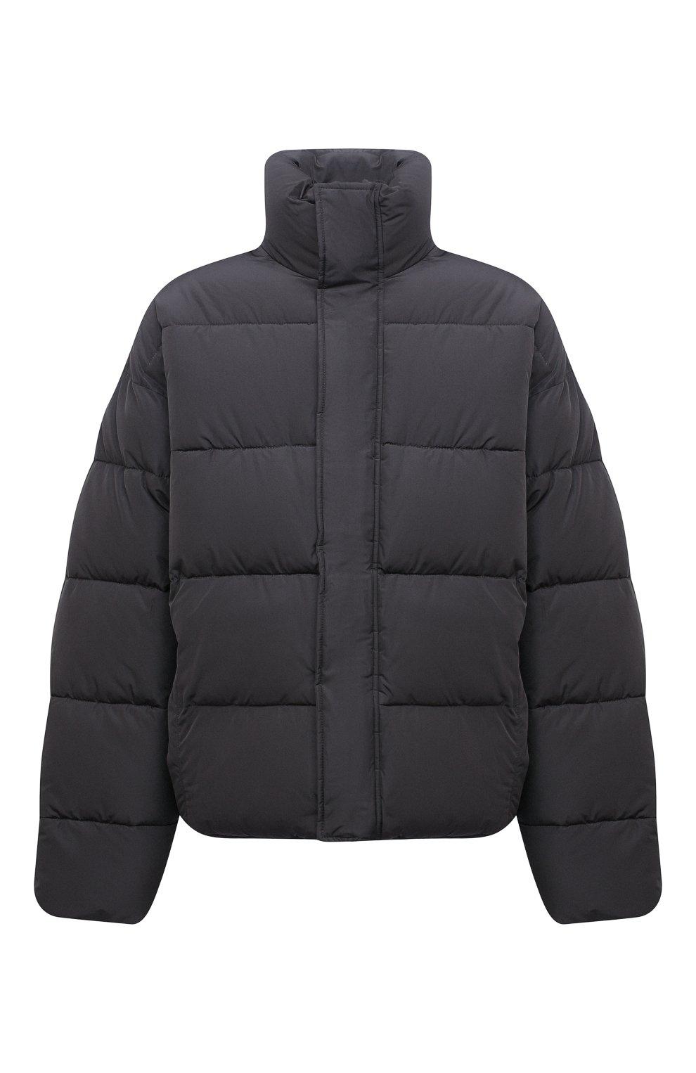 Мужская утепленная куртка BALENCIAGA серого цвета, арт. 642228/TYD36   Фото 1 (Кросс-КТ: Куртка; Мужское Кросс-КТ: пуховик-короткий; Рукава: Длинные; Материал внешний: Синтетический материал, Вискоза; Материал подклада: Синтетический материал; Длина (верхняя одежда): Короткие; Стили: Минимализм)