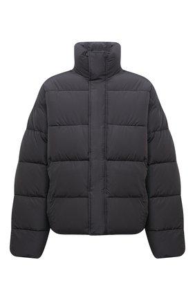 Мужская утепленная куртка BALENCIAGA серого цвета, арт. 642228/TYD36 | Фото 1 (Материал подклада: Синтетический материал; Материал внешний: Вискоза, Синтетический материал; Рукава: Длинные; Длина (верхняя одежда): Короткие; Кросс-КТ: Куртка; Мужское Кросс-КТ: пуховик-короткий; Стили: Минимализм)
