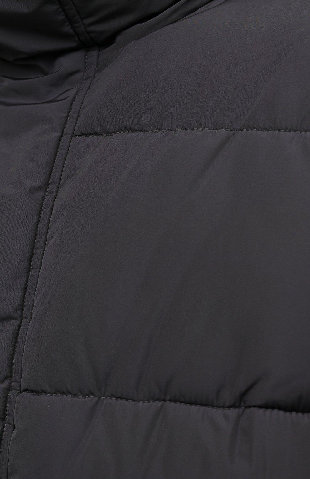 Мужская утепленная куртка BALENCIAGA серого цвета, арт. 642228/TYD36   Фото 5 (Кросс-КТ: Куртка; Мужское Кросс-КТ: пуховик-короткий; Рукава: Длинные; Материал внешний: Синтетический материал, Вискоза; Материал подклада: Синтетический материал; Длина (верхняя одежда): Короткие; Стили: Минимализм)