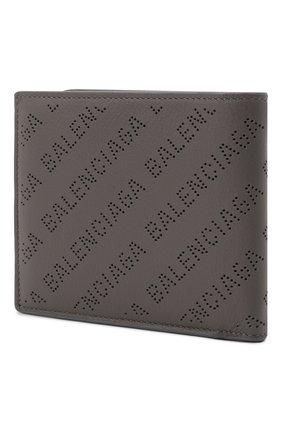 Мужской кожаное портмоне BALENCIAGA темно-серого цвета, арт. 594315/D6WZN   Фото 2