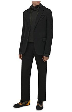 Мужские кроссовки nirmal 2 moncler 1952 MONCLER GENIUS черного цвета, арт. G2-092-4M705-00-02T14 | Фото 2 (Подошва: Плоская; Материал внутренний: Натуральная кожа, Текстиль; Стили: Гранж)