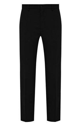 Мужские шерстяные брюки DOLCE & GABBANA темно-серого цвета, арт. GY6IET/FR2TE | Фото 1 (Материал внешний: Шерсть; Длина (брюки, джинсы): Стандартные; Случай: Формальный; Стили: Классический)