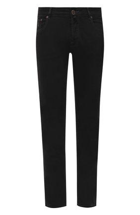 Мужские джинсы MOORER черного цвета, арт. PAVEL-PS709/M0UDE100008-TEPA391 | Фото 1 (Материал внешний: Хлопок; Длина (брюки, джинсы): Стандартные; Кросс-КТ: Деним; Силуэт М (брюки): Прямые; Стили: Кэжуэл)