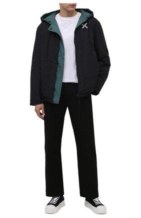 Мужская двусторонняя куртка kenzo sport KENZO черного цвета, арт. FB650U5851NH   Фото 2 (Материал утеплителя: Пух и перо; Материал внешний: Синтетический материал; Материал подклада: Синтетический материал; Длина (верхняя одежда): Короткие; Рукава: Длинные; Кросс-КТ: Куртка; Мужское Кросс-КТ: пуховик-короткий; Стили: Спорт-шик)