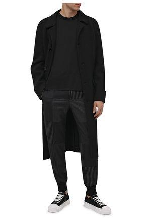 Мужская хлопковая футболка DOLCE & GABBANA черного цвета, арт. G8NQ6T/FU7EQ | Фото 2 (Длина (для топов): Стандартные; Рукава: Короткие; Материал внешний: Хлопок; Принт: Без принта; Стили: Кэжуэл)