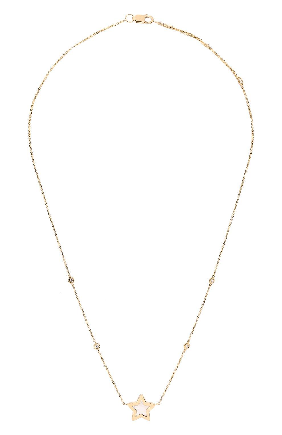 Женское колье J-POINT золотого цвета, арт. ИПГ857.60.280721.2Y | Фото 1 (Материал: Золото)