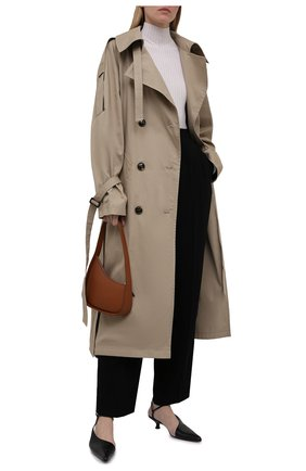 Женский хлопковый тренч 404 NOT FOUND | бежевого цвета, арт. 801603 | Фото 2 (Рукава: Длинные; Материал внешний: Хлопок; Длина (верхняя одежда): Длинные; Стили: Кэжуэл)