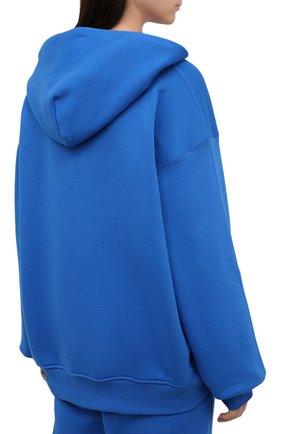Женский хлопковое худи ADIDAS ORIGINALS синего цвета, арт. H33459   Фото 4 (Рукава: Длинные; Длина (для топов): Стандартные; Женское Кросс-КТ: Худи-спорт, Худи-одежда; Материал внешний: Хлопок; Стили: Спорт-шик)