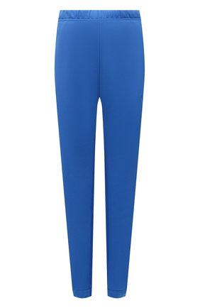 Женские хлопковые джоггеры ADIDAS ORIGINALS синего цвета, арт. H22817   Фото 1 (Материал внешний: Хлопок; Длина (брюки, джинсы): Стандартные; Женское Кросс-КТ: Джоггеры - брюки; Силуэт Ж (брюки и джинсы): Джоггеры; Стили: Спорт-шик)