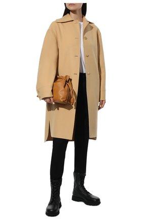Женские кожаные ботинки JIL SANDER черного цвета, арт. JS37266A-14172 | Фото 2 (Каблук высота: Низкий; Подошва: Платформа; Материал внутренний: Натуральная кожа; Женское Кросс-КТ: Военные ботинки)
