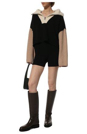 Женские кожаные сапоги derby KHAITE темно-коричневого цвета, арт. F1007-722/DERBY   Фото 2 (Материал внутренний: Натуральная кожа; Подошва: Платформа; Высота голенища: Средние; Каблук высота: Низкий; Каблук тип: Устойчивый)
