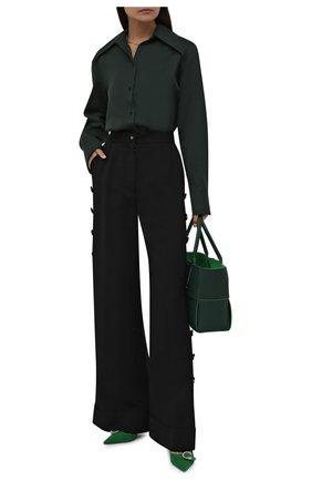 Женские брюки из вискозы и шерсти DOLCE & GABBANA черного цвета, арт. FTB33T/FU3AB | Фото 2 (Длина (брюки, джинсы): Удлиненные; Материал внешний: Шерсть, Вискоза; Женское Кросс-КТ: Брюки-одежда; Силуэт Ж (брюки и джинсы): Расклешенные; Стили: Кэжуэл)