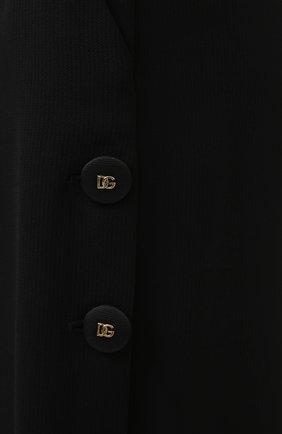 Женские брюки из вискозы и шерсти DOLCE & GABBANA черного цвета, арт. FTB33T/FU3AB | Фото 5 (Длина (брюки, джинсы): Удлиненные; Материал внешний: Шерсть, Вискоза; Женское Кросс-КТ: Брюки-одежда; Силуэт Ж (брюки и джинсы): Расклешенные; Стили: Кэжуэл)