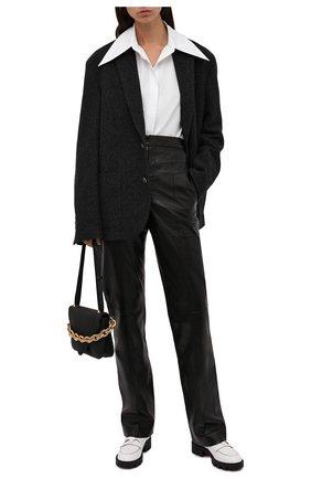 Женские кожаные ботинки montezu lug CHRISTIAN LOUBOUTIN белого цвета, арт. 3210995/M0NTEZU LUG FLAT | Фото 2 (Материал внутренний: Натуральная кожа; Подошва: Платформа; Каблук высота: Низкий; Женское Кросс-КТ: Челси-ботинки)