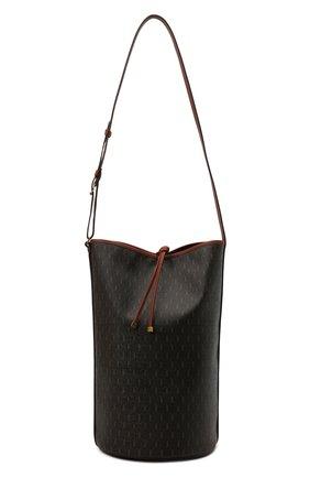Женский сумка le monogramme SAINT LAURENT коричневого цвета, арт. 670751/2UY2W | Фото 1 (Размер: large; Материал: Экокожа; Сумки-технические: Сумки-шопперы)