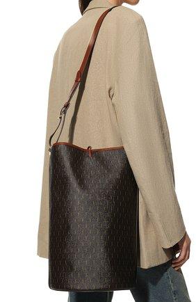 Женский сумка le monogramme SAINT LAURENT коричневого цвета, арт. 670751/2UY2W | Фото 2 (Размер: large; Материал: Экокожа; Сумки-технические: Сумки-шопперы)