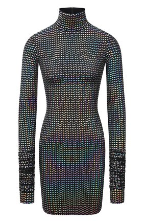 Женская водолазка DOLCE & GABBANA разноцветного цвета, арт. F8067T/FUGMC | Фото 1 (Длина (для топов): Удлиненные; Материал внешний: Синтетический материал; Рукава: Длинные; Женское Кросс-КТ: Водолазка-одежда; Стили: Гламурный)