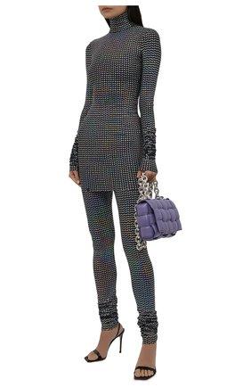 Женская водолазка DOLCE & GABBANA разноцветного цвета, арт. F8067T/FUGMC | Фото 2 (Длина (для топов): Удлиненные; Материал внешний: Синтетический материал; Рукава: Длинные; Женское Кросс-КТ: Водолазка-одежда; Стили: Гламурный)