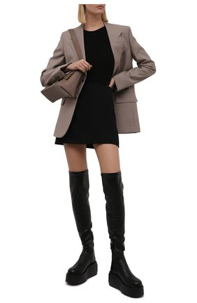 Женские ботфорты hdu VALENTINO черного цвета, арт. WW2S0CG3/HDU   Фото 2 (Материал внутренний: Натуральная кожа; Подошва: Платформа; Материал внешний: Экокожа; Высота голенища: Высокие; Каблук тип: Танкетка)