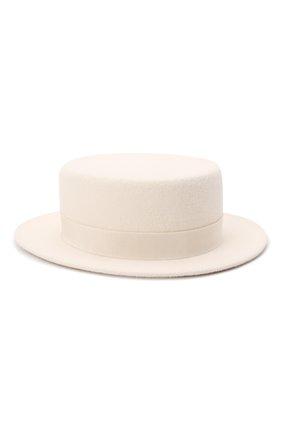 Женская шляпа kanotie mini COCOSHNICK HEADDRESS белого цвета, арт. kanotiemini   Фото 1 (Материал: Текстиль)