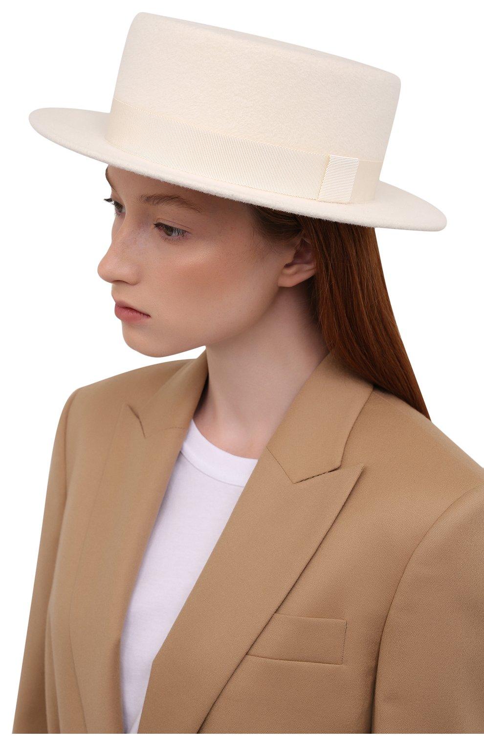 Женская шляпа kanotie mini COCOSHNICK HEADDRESS белого цвета, арт. kanotiemini   Фото 2 (Материал: Текстиль)