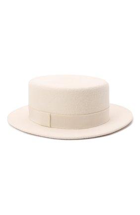 Женская шляпа kanotie mini COCOSHNICK HEADDRESS белого цвета, арт. kanotiemini   Фото 3 (Материал: Текстиль)