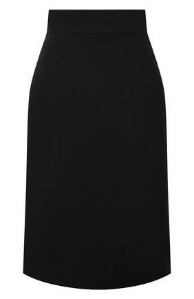 Женская шерстяная юбка DOLCE & GABBANA серого цвета, арт. F4BM7T/FQBAL | Фото 1 (Длина Ж (юбки, платья, шорты): До колена; Материал внешний: Шерсть; Материал подклада: Шелк; Женское Кросс-КТ: Юбка-одежда; Стили: Кэжуэл)
