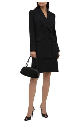 Женская шерстяная юбка DOLCE & GABBANA серого цвета, арт. F4BM7T/FQBAL | Фото 2 (Длина Ж (юбки, платья, шорты): До колена; Материал внешний: Шерсть; Материал подклада: Шелк; Женское Кросс-КТ: Юбка-одежда; Стили: Кэжуэл)